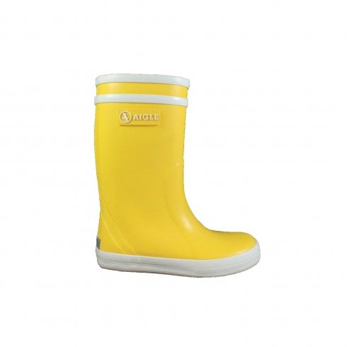 Aigle Lolly Pop Yellow Rubber Wellington Boot