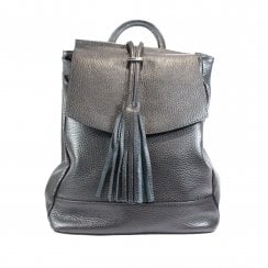 Farley Black Leather Backpack Bag