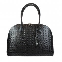 Harrow Black Leather Tote Handbag