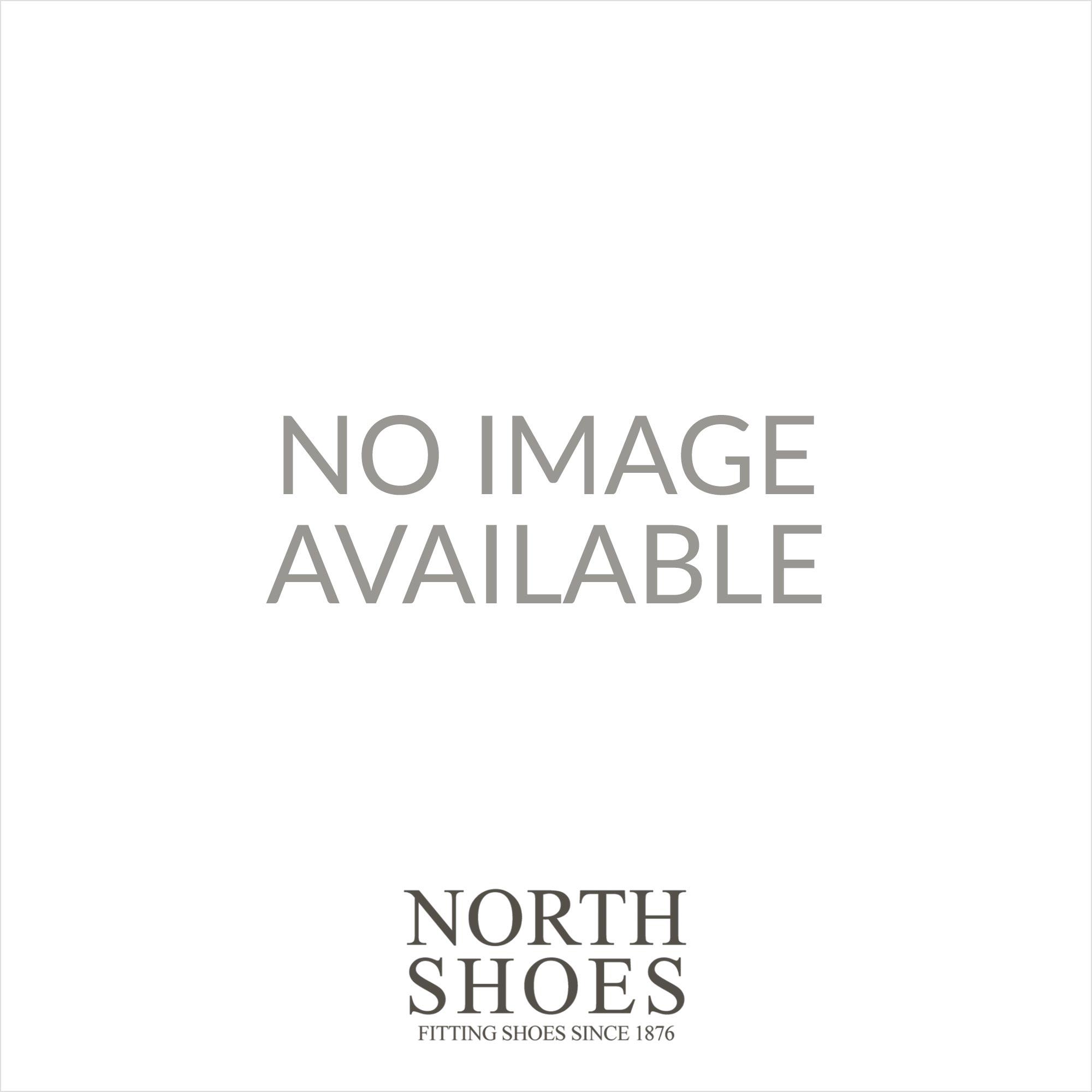 27273-25 Navy Leather Womens Slip On Riptape Sandal