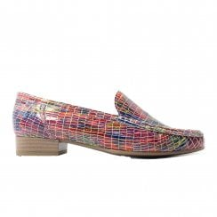 Atlanta 50137-78 Multi Coloured Womens Slip On Loafer Shoes