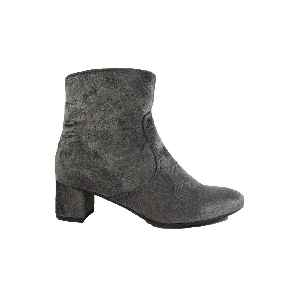 3f3b1254838 Mens Ara Mayenne-St 61625-65 Taupe Grey Velour Womens Heeled Ankle ...