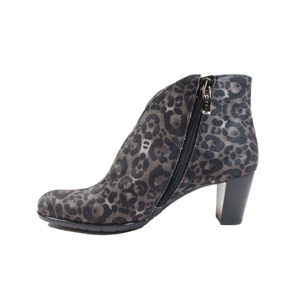grey animal print boots