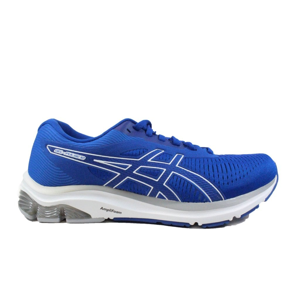 Asics Gel-Pulse 12 Blue Mesh Mens Lace Up Running Trainers