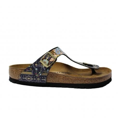 Birkenstock Gizeh Blue Mosaic Leather Womens Slip On Toe Post Sandal -  Birkenstock from North Shoes UK 6223a7b016