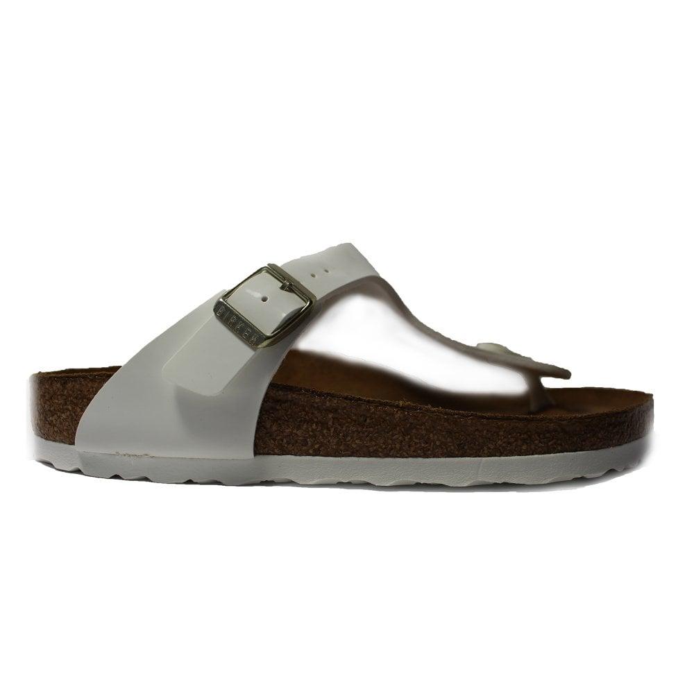 Birkenstock Gizeh White Patent Leather Womens Slip On Toe Post Sandal -  Birkenstock from North Shoes UK 9cfddf3e14