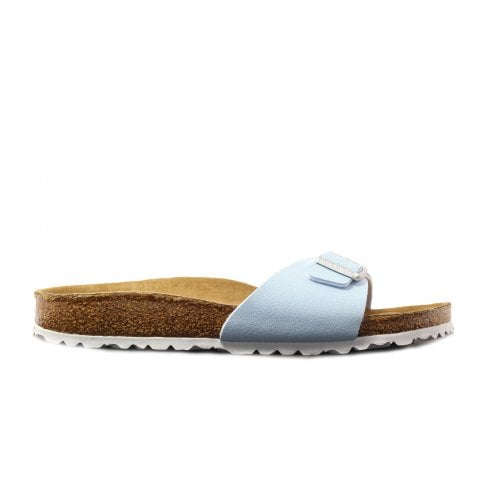 Birkenstock Madrid Sky Blue Womens Vegan Friendly Slip On Mule Sandals