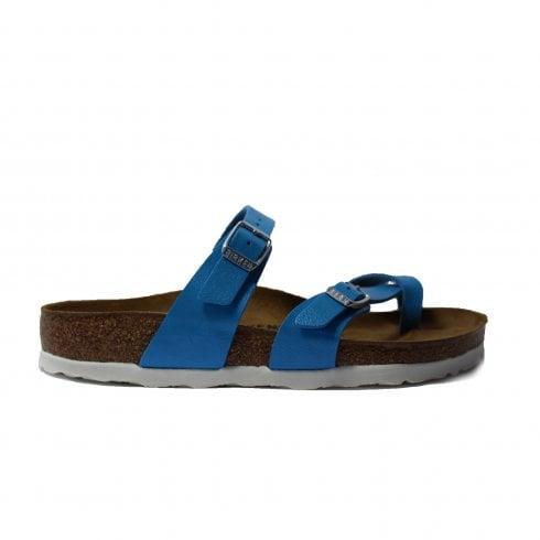 0caca0c65cf9 Birkenstock Mayari Blue Leather Slip On Womens Mule Sandal - Birkenstock  from North Shoes UK