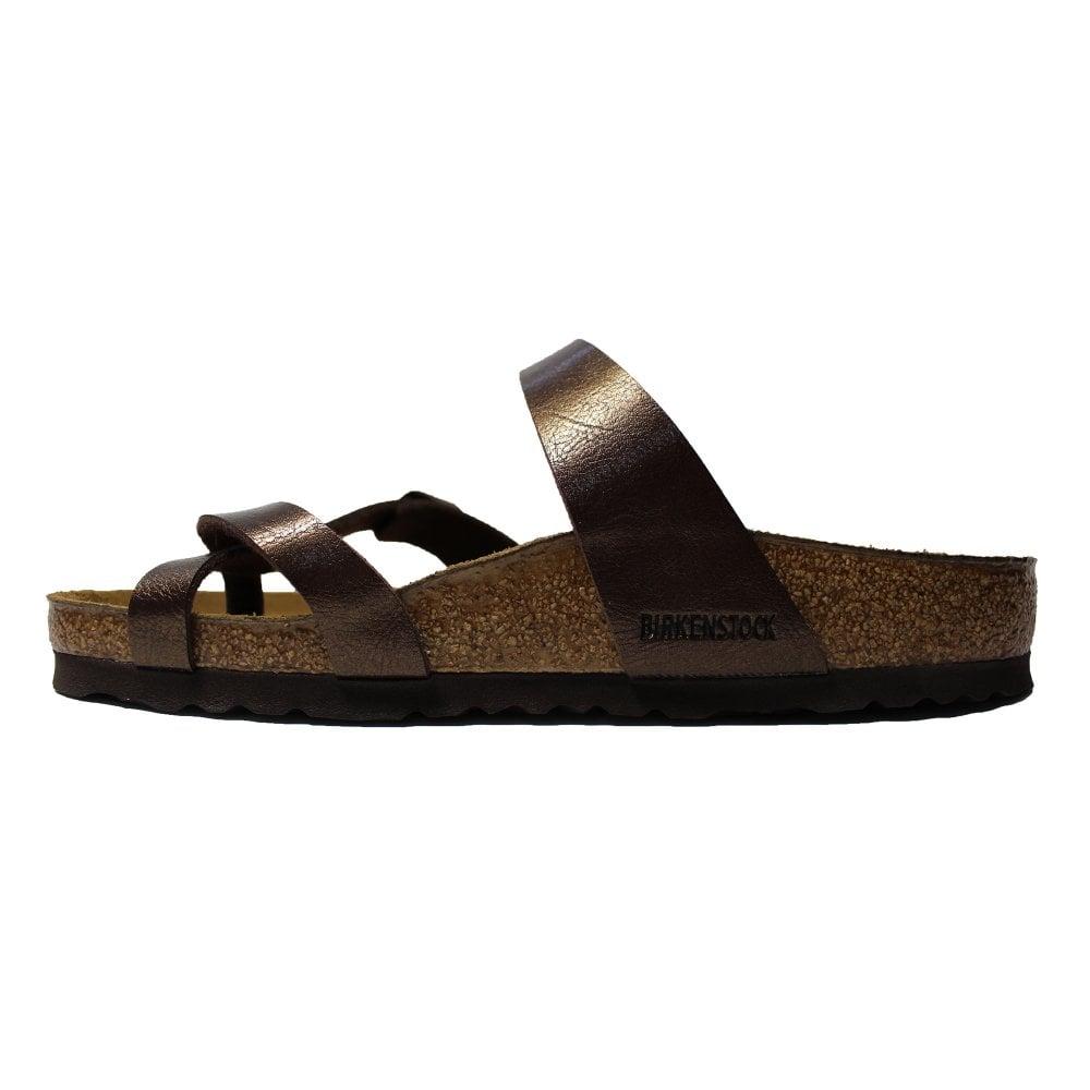 9419475c1881 ... Birkenstock Mayari Dark Brown Leather Womens Slip On Toe Post Sandal ...