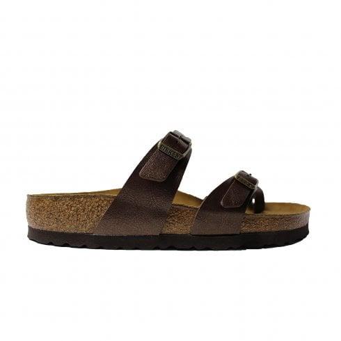 9836d5fdb5fb Birkenstock Mayari Dark Brown Leather Womens Slip On Toe Post Sandal -  Birkenstock from North Shoes UK
