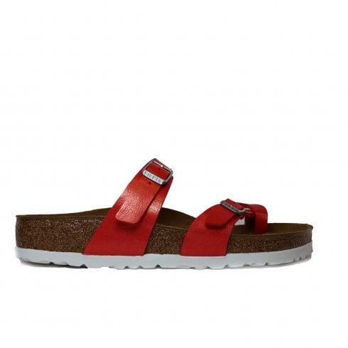 d52e03fd0e11 Birkenstock Mayari Red Leather Slip On Womens Mule Sandal - Birkenstock  from North Shoes UK