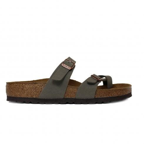 6a64c41d09ff Birkenstock Mayari Stone Leather Slip On Womens Mule Sandal - Birkenstock  from North Shoes UK