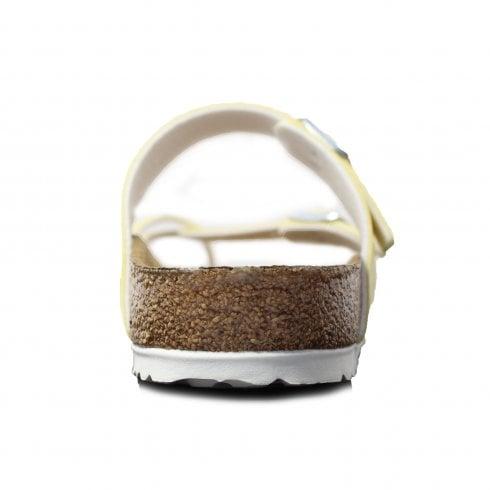 Birkenstock Mayari Vegan Brushed Vanilla Yellow Womens Slip On Mule Sandals