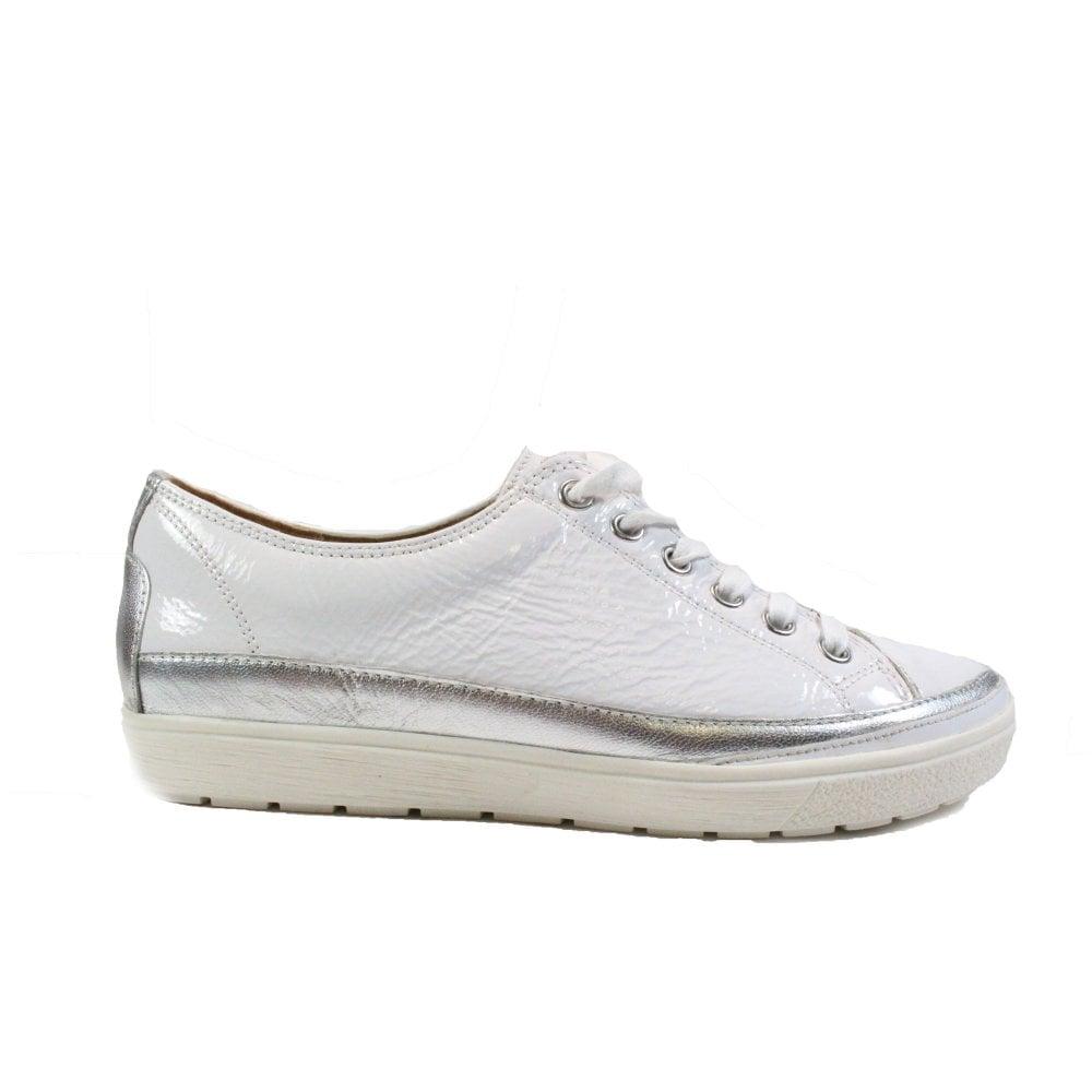 Caprice 23654 White Patent Leather