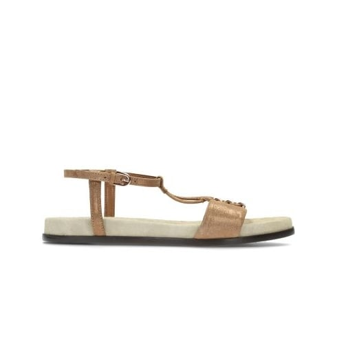 44e1d3f3f934cc Clarks Agean Cool Bronze Leather Womens Strappy Sandal - Clarks from North  Shoes UK