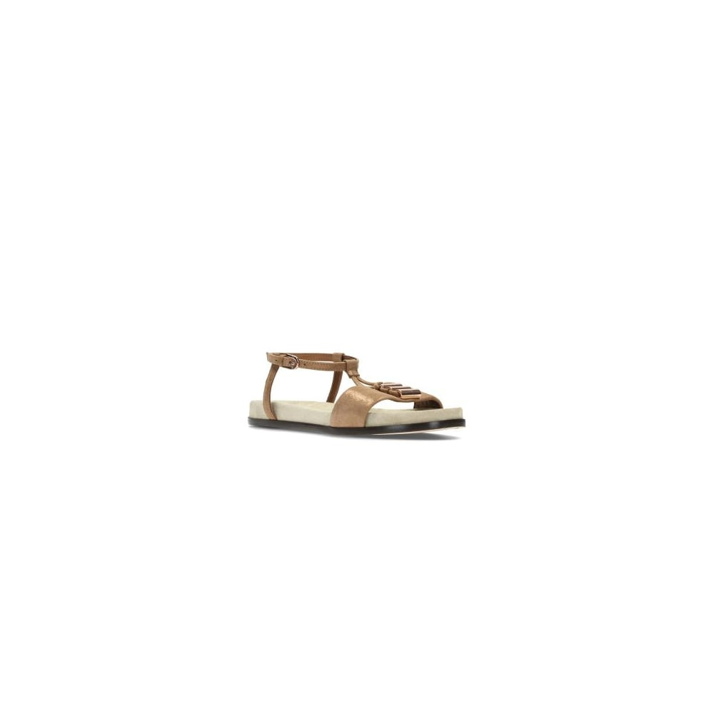 3bc18c213c421c Clarks Agean Cool Bronze Leather Womens Strappy Sandal - Clarks from ...