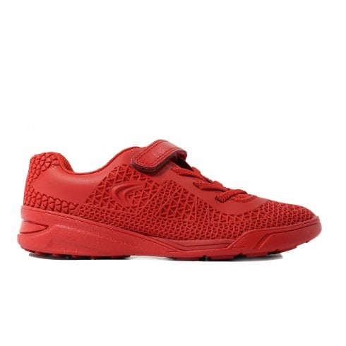 Clarks Award Blaze Infant Red Combination Boys Rip Tape/Lace Up Astro Turf Trainers