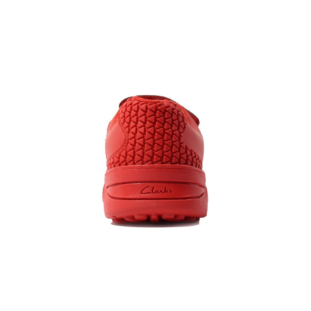 92459afecef6 ... Clarks Award Blaze Infant Red Combination Boys Rip Tape/Lace Up Astro  Turf Trainers ...