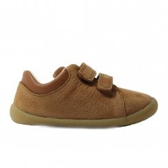 CLA Roamer Craft Infant Tan Leather Childrens Pre Walker Rip Tape Shoes