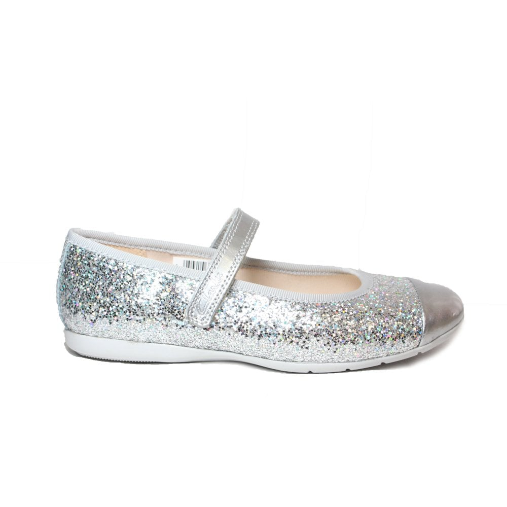Clarks Dance Tap Kids Silver Glitter