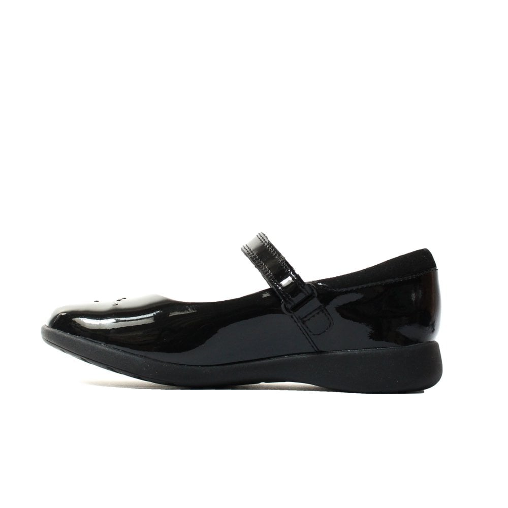 Subvención Máxima Retocar  Clarks Etch Spark Kids Black Patent Leather Girls Rip Tape Mary Jane School  Shoes | SALE | Buy Online UK