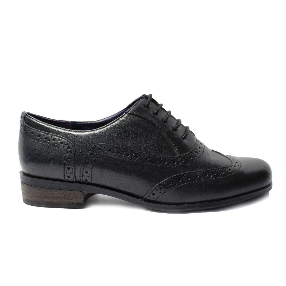 c593300014a25 Mens Clarks Hamble Oak Black Leather Womens Formal Lace Up Brogue ...