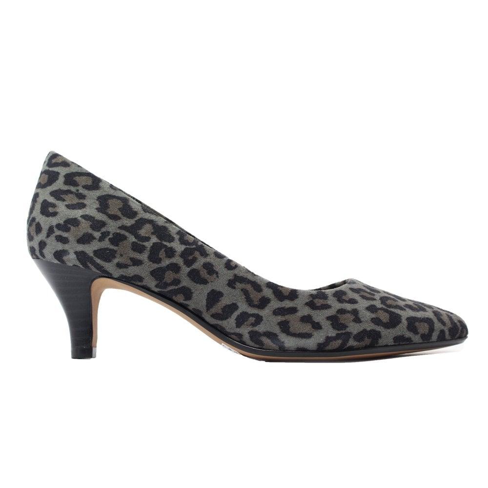 Clarks Linvale Jerica Grey Leopard
