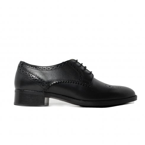 802b96ae6e0b Clarks Netley Rose Black Leather Womens Lace Up Brogue Shoe - Clarks from  North Shoes UK