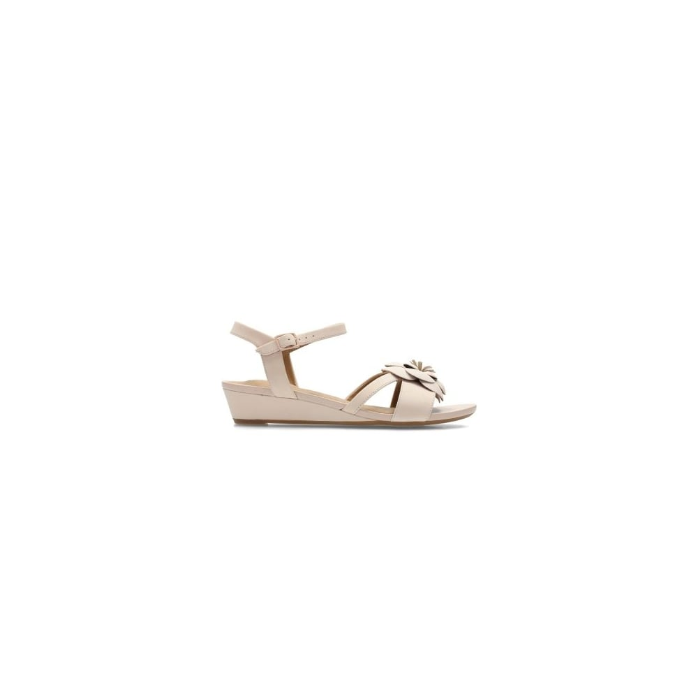 0f91ce79490 Clarks Parram Stella Pink Nubuck Leather Womens Strappy Sandal - Clarks  from North Shoes UK