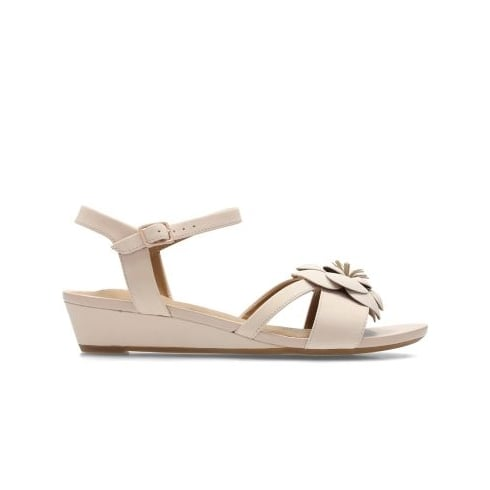 ef76281a72c9 Clarks Parram Stella Pink Nubuck Leather Womens Strappy Sandal - Clarks  from North Shoes UK