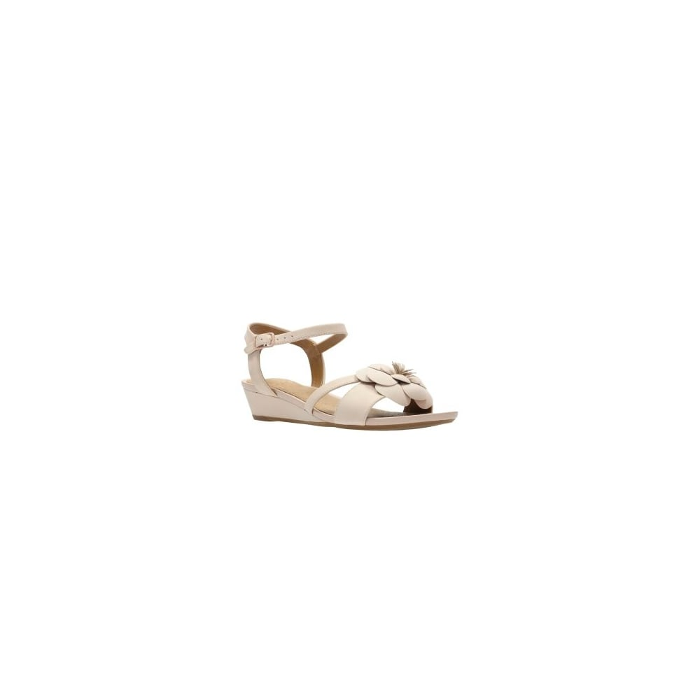 f6967c932ecd ... Clarks Parram Stella Pink Nubuck Leather Womens Strappy Sandal ...