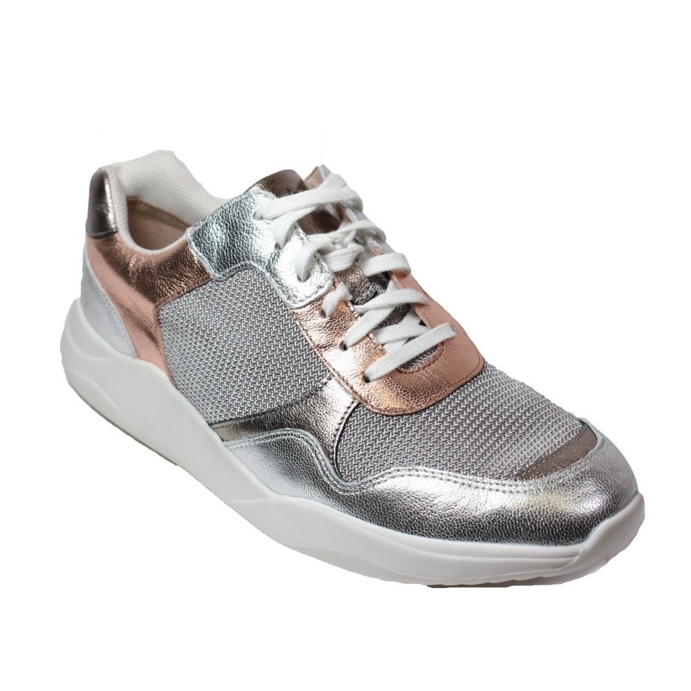 Clarks Sift Lace Rose Gold Mesh/Leather
