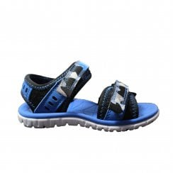 Surfing Wave Blue Combination Boys Riptape Sandal