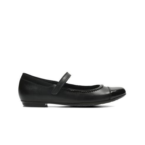 CLARKS Tizz Ace BL Black Girls Shoe