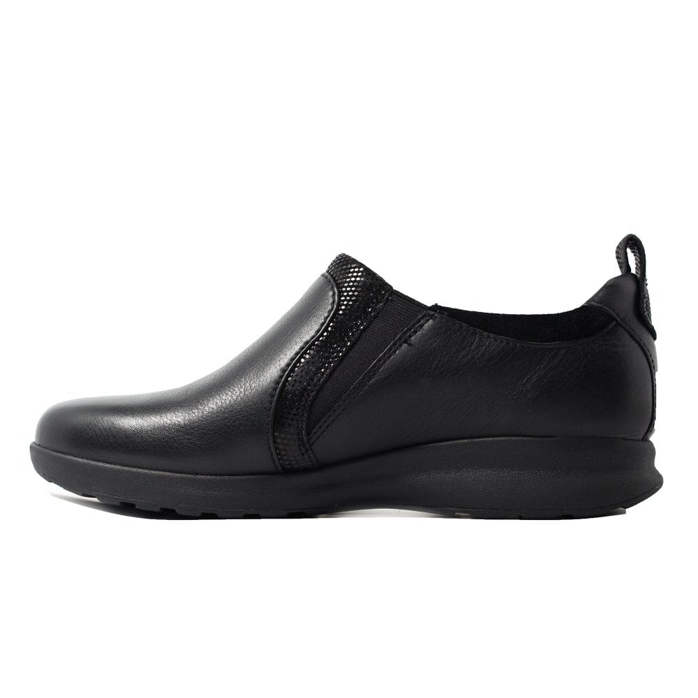 paciente construcción naval Impuro  Clarks Un Adorn Zip Black Combination Leather Womens Zip Up Shoes | SALE |  Buy Online UK