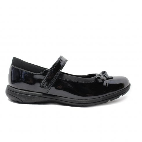 Clarks Venture Star Black Patent Leather Girls Mary Jane School Shoes