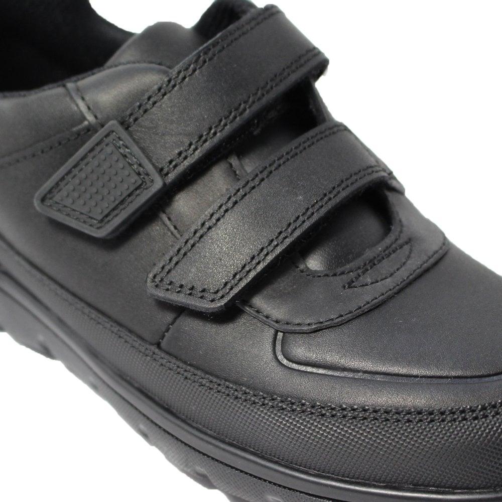 Clarks Venture Walk Black Leather Boys