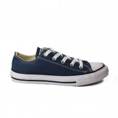 3J237c Navy Canvas Unisex Lace Up Shoe
