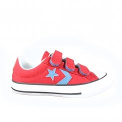 660741C Red Canvas Unisex Rip Tape Casual Trainer Shoe