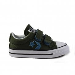 760753C Green Canvas Unisex Rip Tape Casual Shoe
