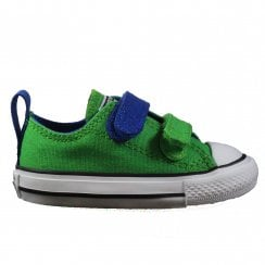 Chuck Taylor All Star 2V 742888F Green Canvas Unisex Rip Tape Sneaker Shoe - UK 4
