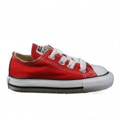 Chuck Taylor All Star Classic Toddler 7J236 Red Canvas Lace Up Sneaker Shoes