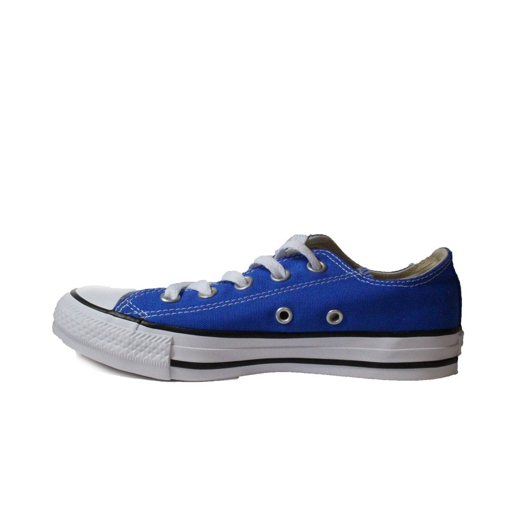 97192130a97f ... Converse Chuck Taylor All Star Ox 159545C Blue Canvas Unisex Lace Up  Casual Trainer Shoe ...