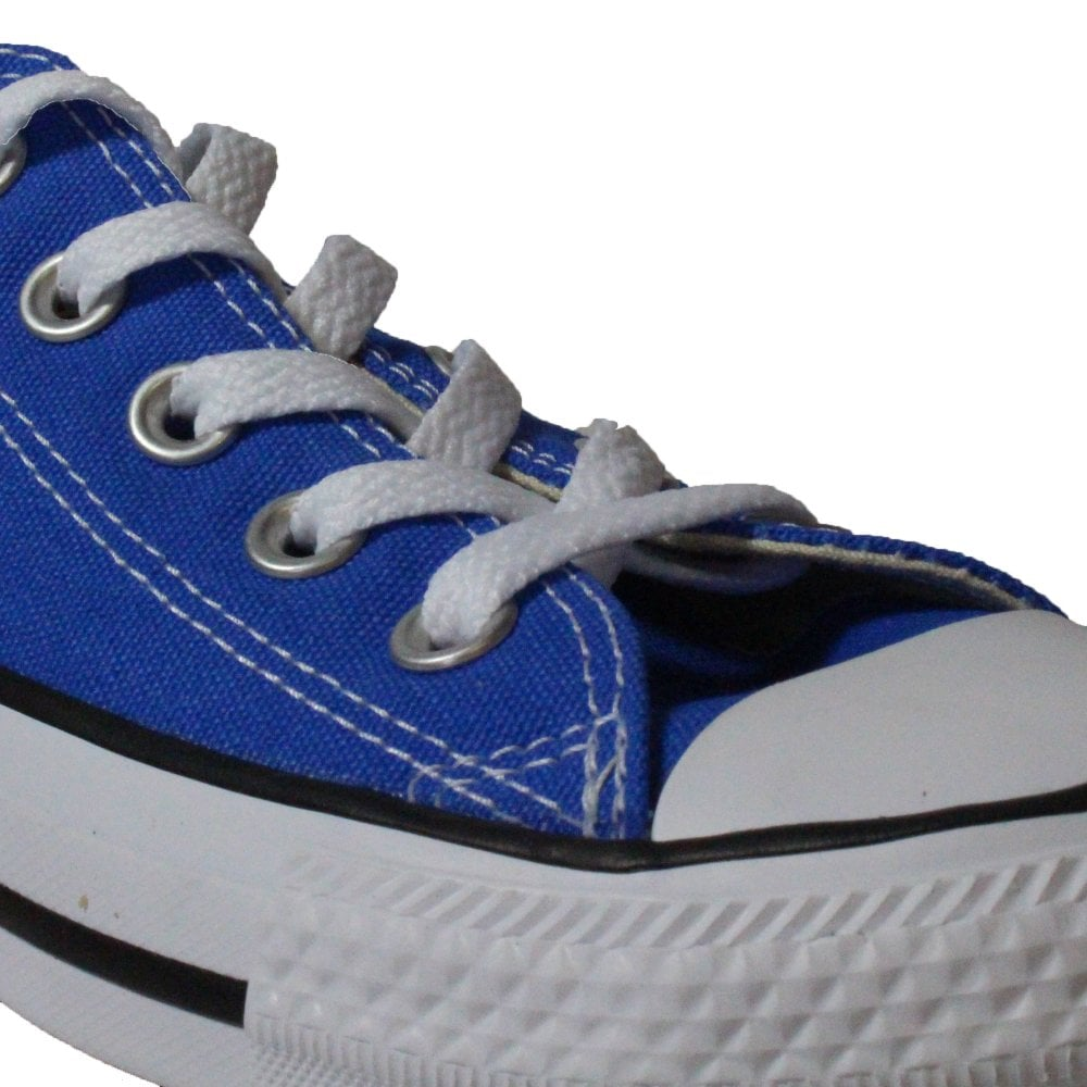 899178bfd23f ... Converse Chuck Taylor All Star Ox 159545C Blue Canvas Unisex Lace Up  Casual Trainer Shoe