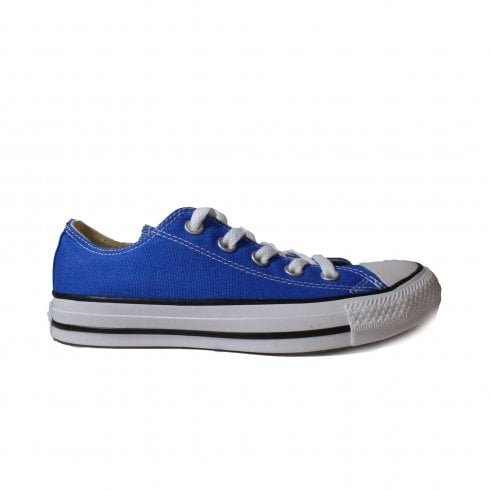 Converse Chuck Taylor All Star Ox 159545C Blue Canvas Unisex Lace Up Casual Trainer Shoe