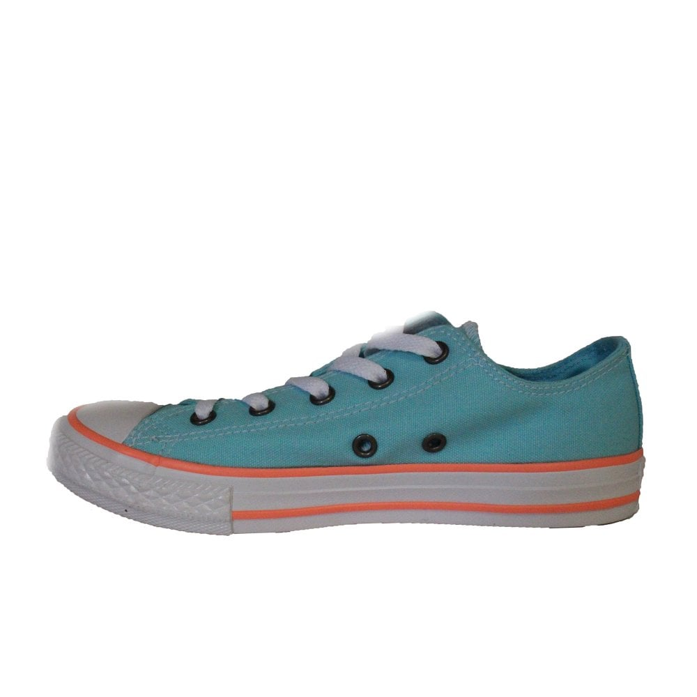 566cd9d9ce98 ... Converse Chuck Taylor All Star Ox 660733C Aqua Canvas Unisex Lace Up  Casual Trainer Shoe ...
