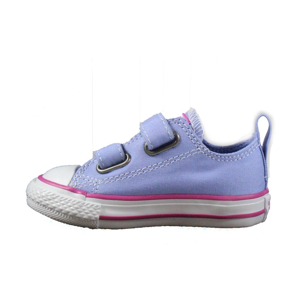 ade8376aa018 ... Converse Chuck Taylor All Star Ox 760752C Lilac Canvas Unisex Rip Tape  Casual Trainer Shoe ...
