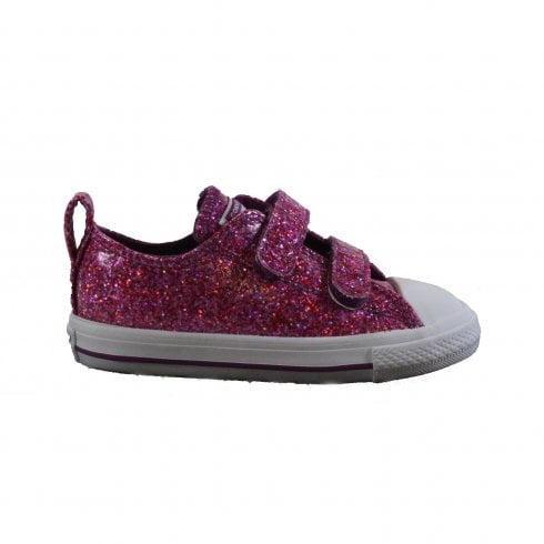 820df38d3d83 Converse Chuck Taylor All Stars 2V Ox 762346C Violet Sparkle Girls Rip Tape  Sneaker - Converse from North Shoes UK