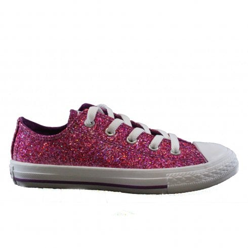 332561969e1e Converse Chuck Taylor All Stars Ox 662344C Violet Sparkle Girls Lace Up  Sneaker - Converse from North Shoes UK