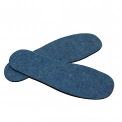 Adults Blue Deodorising Felt Insole - Helps Keep Feet Fresh